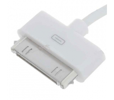 Cable usb carga cargador datos sync BLANCO para iPhone Ipod Ipad 3 3G 3GS 4 4S ARREGLATELO - 5
