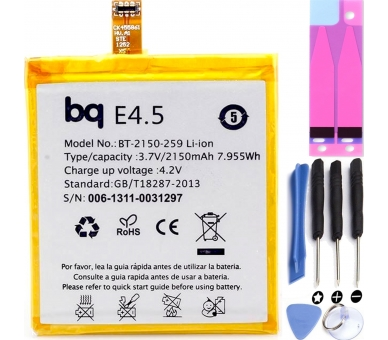 Batterij Compatibel MET BQ AQUARIS E4.5 E4.5 E 4.5 E 4.5 ARREGLATELO - 1