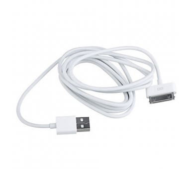 Cable usb carga cargador datos sync BLANCO para iPhone Ipod Ipad 3 3G 3GS 4 4S  - 6