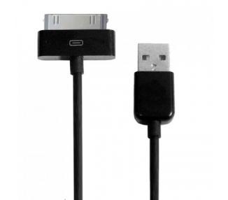 Cable usb carga cargador datos sync NEGRO para iPhone Ipod Ipad 3 3G 3GS 4 4S ARREGLATELO - 2