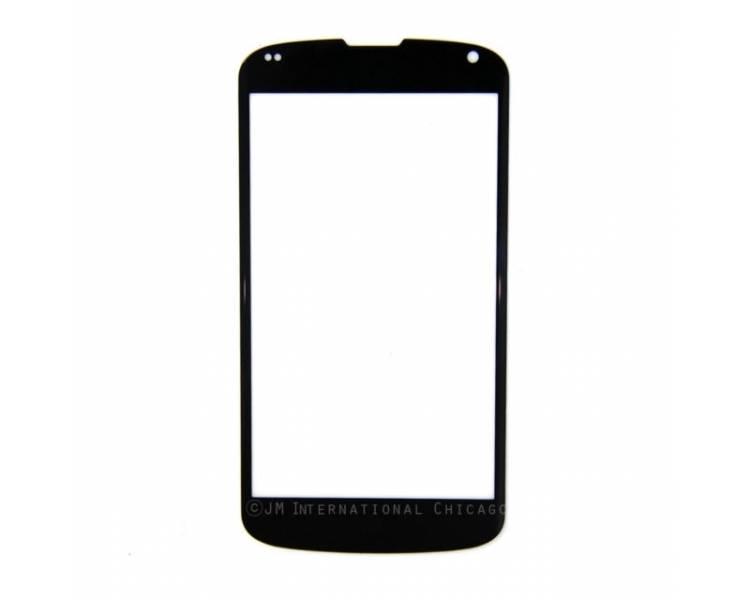 EXTERNE SCREEN GLAS voor LCD TOUCH voor LG NEXUS 4 E960 ZWART ZWART  - 1