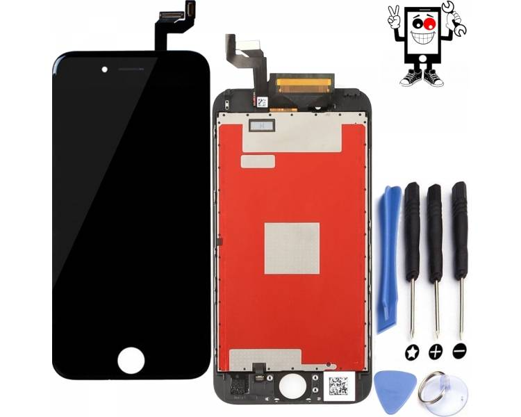 Vollretina-Bildschirm mit LCD & Touch für iPhone 6S Schwarz Schwarz ARREGLATELO - 1