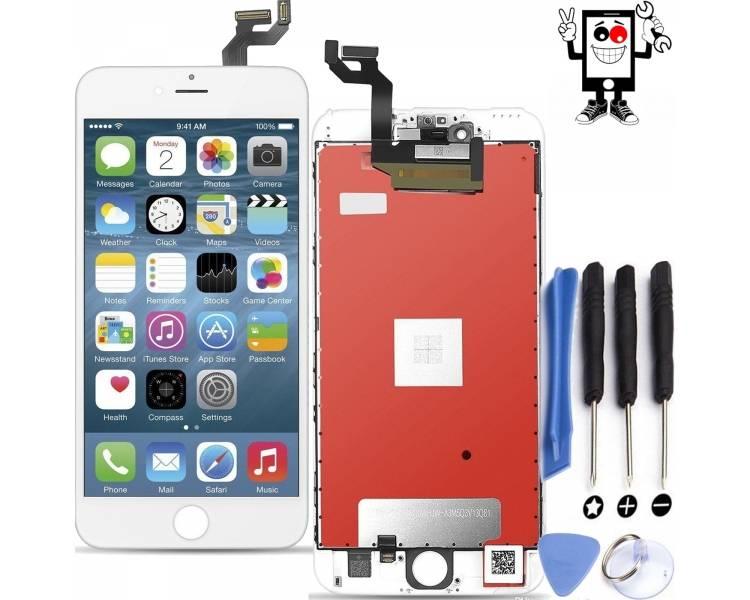Pełny ekran dla iPhone 6S Plus 6S + Biały Biały