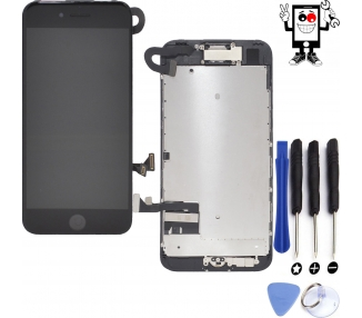 Display for iPhone 7, Color Black, With Components & Home Button ARREGLATELO - 1