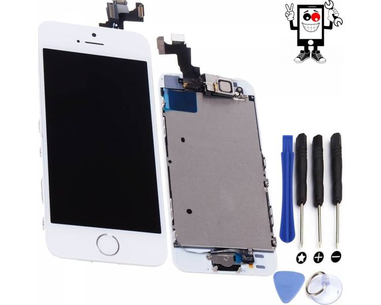 Display for iPhone 5S, Color White ARREGLATELO - 1