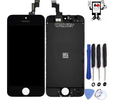 Volledig scherm voor iPhone 5S Zwart Zwart FIX IT - 1