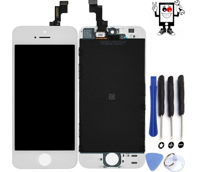 Pełny ekran dla iPhone 5S Biały Biały ARREGLATELO - 1