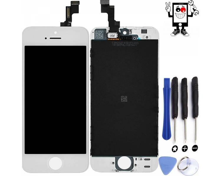Schermo intero per iPhone 5S Bianco Bianco ARREGLATELO - 1