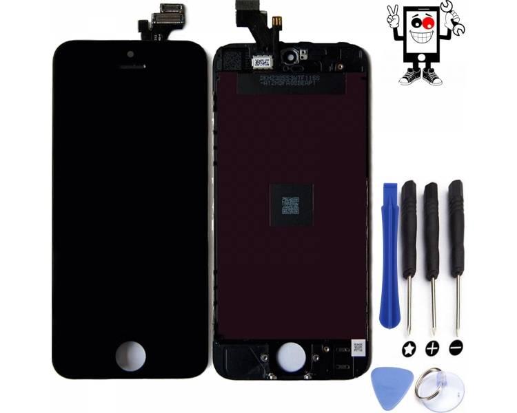 Pełny ekran Retina dla iPhone'a 5 Czarny Czarny ++ ARREGLATELO - 1