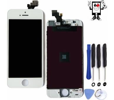 Schermo Retina completo per iPhone 5 Bianco Bianco +++ ARREGLATELO - 1