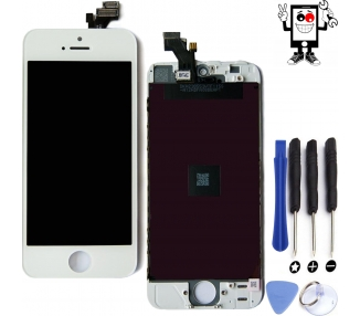Voller Retina-Bildschirm für iPhone 5 White White +++