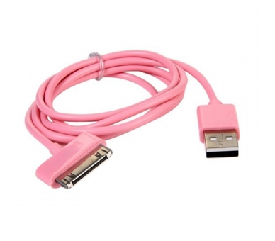 Cable usb carga cargador datos color ROSA para iPhone Ipod Ipad 3 3G 3GS 4 4S  - 2