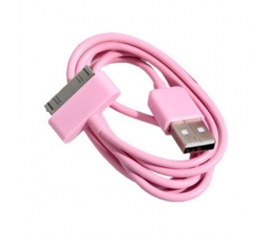 Cable usb carga cargador datos color ROSA para iPhone Ipod Ipad 3 3G 3GS 4 4S  - 3