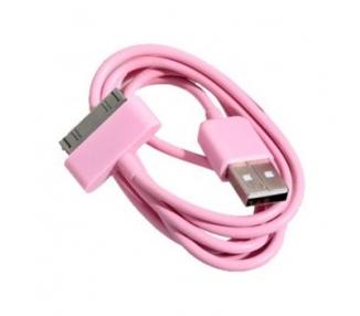 Cable usb carga cargador datos color ROSA para iPhone Ipod Ipad 3 3G 3GS 4 4S ARREGLATELO - 3