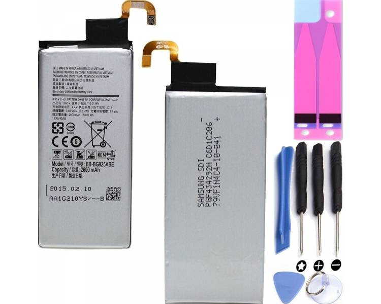 Batterij voor Samsung Galaxy S6 Edge G925 EB-BG925ABE - Originele capaciteit  - 1