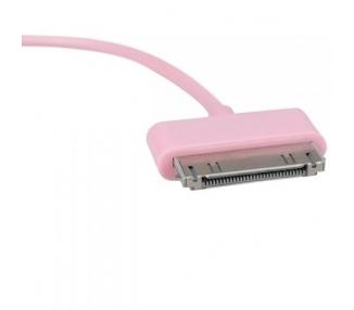 Cable usb carga cargador datos color ROSA para iPhone Ipod Ipad 3 3G 3GS 4 4S ARREGLATELO - 4