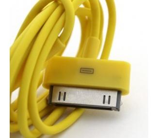Cable usb carga cargador datos Amarillo para iPhone Ipod Ipad 3 3G 3GS 4 4S ARREGLATELO - 1
