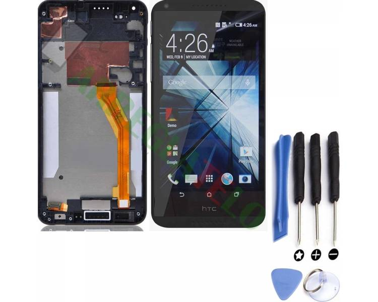 Volledig scherm met frame voor HTC Desire 816 816D 816T Zwart Zwart HTC - 1