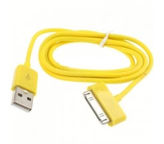 Cable usb carga cargador datos Amarillo para iPhone Ipod Ipad 3 3G 3GS 4 4S ARREGLATELO - 2