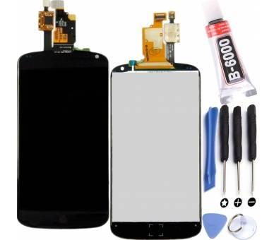 Volledig scherm voor LG NEXUS 4 E960 Zwart Zwart FIX IT - 1