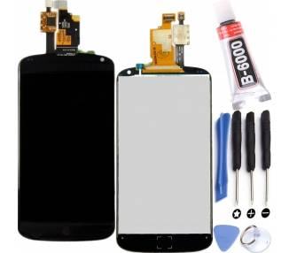 Vollbild für LG NEXUS 4 E960 Schwarz Schwarz