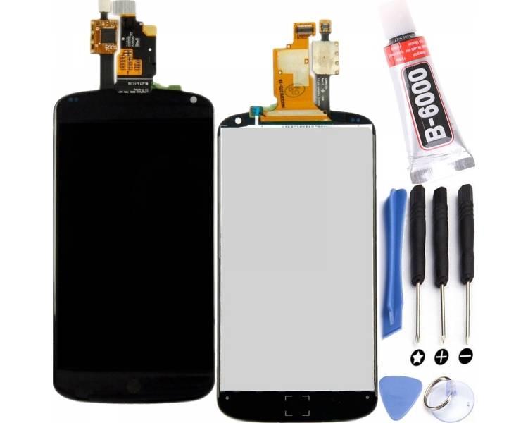 Vollbild für LG NEXUS 4 E960 Schwarz Schwarz ARREGLATELO - 1