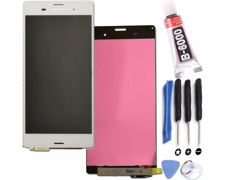 Pełny ekran dla Sony Xperia Z3 D6603 Biały Biały ARREGLATELO - 1