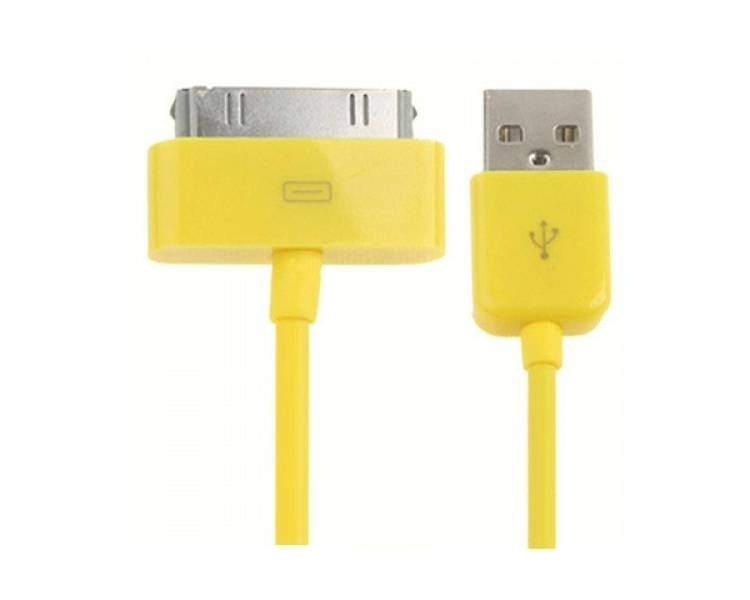 Cable usb carga cargador datos Amarillo para iPhone Ipod Ipad 3 3G 3GS 4 4S ARREGLATELO - 3