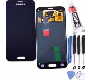 Pełny ekran dla Samsung Galaxy S5 Mini G800F Czarny Czarny ARREGLATELO - 1