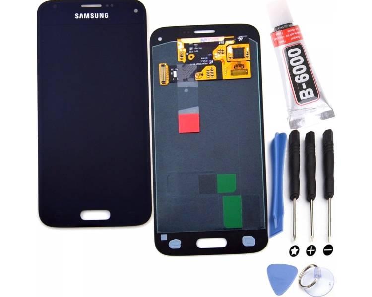 Schermo intero per Samsung Galaxy S5 Mini G800F Nero Nero ARREGLATELO - 1