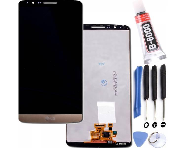 Pełny ekran dla LG G3 D855 biały biały
