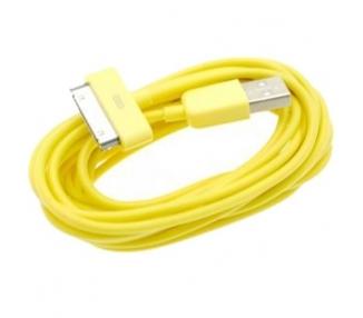 Cable usb carga cargador datos Amarillo para iPhone Ipod Ipad 3 3G 3GS 4 4S ARREGLATELO - 4