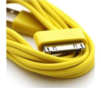 Cable usb carga cargador datos Amarillo para iPhone Ipod Ipad 3 3G 3GS 4 4S ARREGLATELO - 5