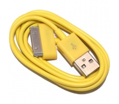 Cable usb carga cargador datos Amarillo para iPhone Ipod Ipad 3 3G 3GS 4 4S ARREGLATELO - 7
