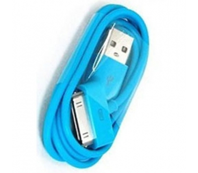 Cable usb carga cargador datos Color Azul para iPhone Ipod Ipad 3 3G 3GS 4 4S ARREGLATELO - 1