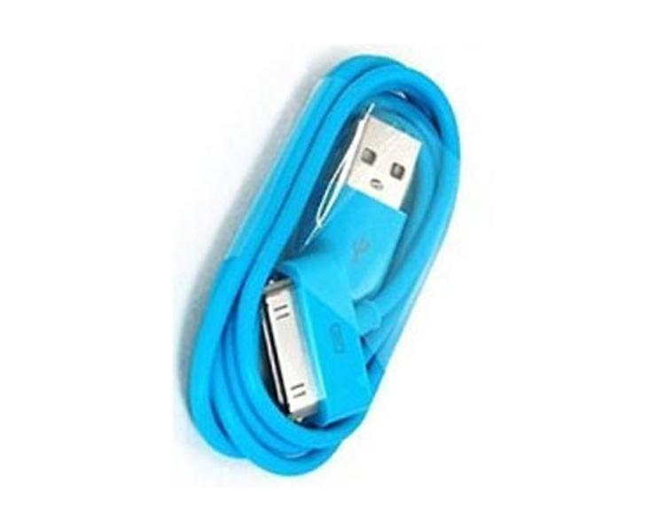 iPhone 4 / 4S-kabel - blauwe kleur ARREGLATELO - 1