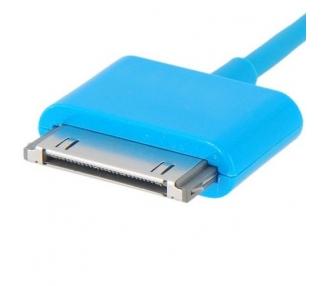 Cable usb carga cargador datos Color Azul para iPhone Ipod Ipad 3 3G 3GS 4 4S ARREGLATELO - 3