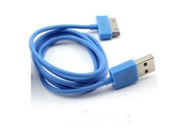 Cable usb carga cargador datos Color Azul para iPhone Ipod Ipad 3 3G 3GS 4 4S ARREGLATELO - 5