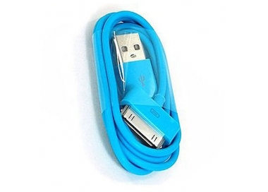 Cable usb carga cargador datos Color Azul para iPhone Ipod Ipad 3 3G 3GS 4 4S ARREGLATELO - 6