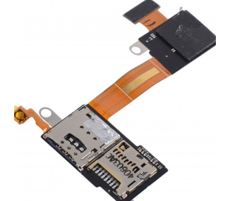 Micro SD Sim Reader Flex für Sony Xperia M2