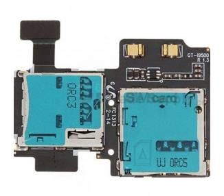 Flex Lector Tarjeta Sim Micro SD para Samsung Galaxy S4 i9500 REV 1.3