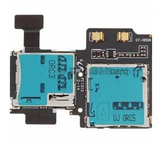 Flex Lector Tarjeta Sim Micro SD para Samsung Galaxy S4 i9500 REV 1.7  - 1