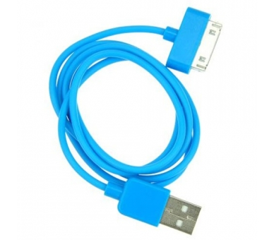 Cable usb carga cargador datos Color Azul para iPhone Ipod Ipad 3 3G 3GS 4 4S ARREGLATELO - 7