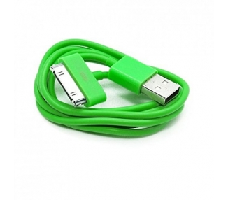 Cable usb carga cargador datos Color Verde para iPhone Ipod Ipad 3 3G 3GS 4 4S ARREGLATELO - 2