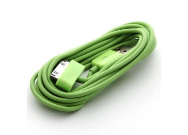 Cable usb carga cargador datos Color Verde para iPhone Ipod Ipad 3 3G 3GS 4 4S ARREGLATELO - 4