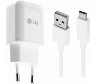Cargador Cable USB Tipo C Original LG MCS-H05ED Carga Rapida para V30 G6 G5 V20