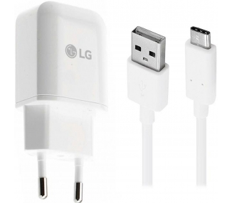 LG MCS-H05ED Charger + Type C Cable - Color White