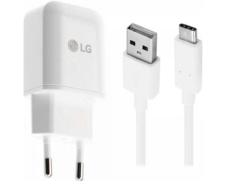 Cargador Original LG MCS-H05ED tipo C Carga Rapida PARA NEXUS G Flex2 G4 G5 V10 LG - 1