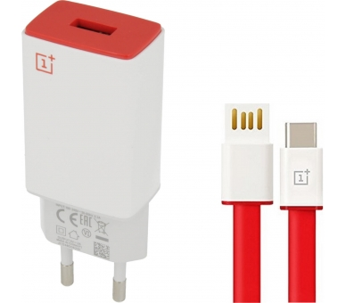 OnePlus AY0520 Charger + USB Type C Cable - Color White OnePlus - 1