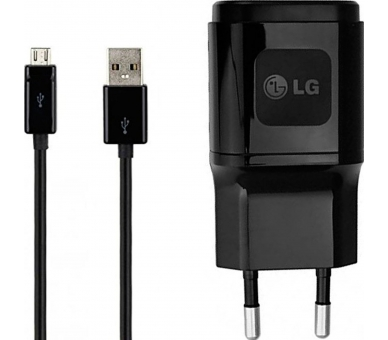 LG MCS-04ED / MCS-04ER Charger + Micro USB Cable - Color Black LG - 1